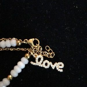 Merx Jewelry - Merx White/Gold Beaded Bracelet